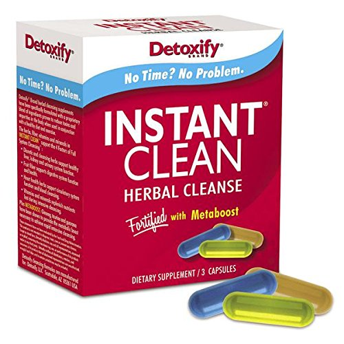 Detoxify Instant Clean Herbal Cleanse 3 Capsules  Best Detox