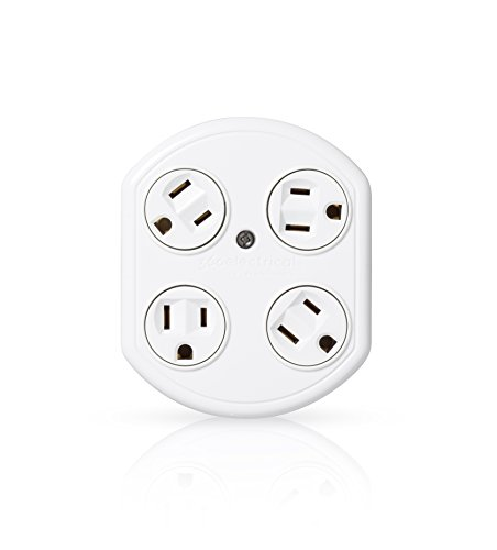 bestten 6 outlet socket wall mount surge protector with dual usb total 3 1a 2 4 amp  usb port