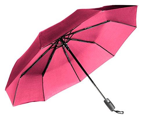 Good Morning America Umbrella : Repel windproof travel umbrella with teflon coating pink