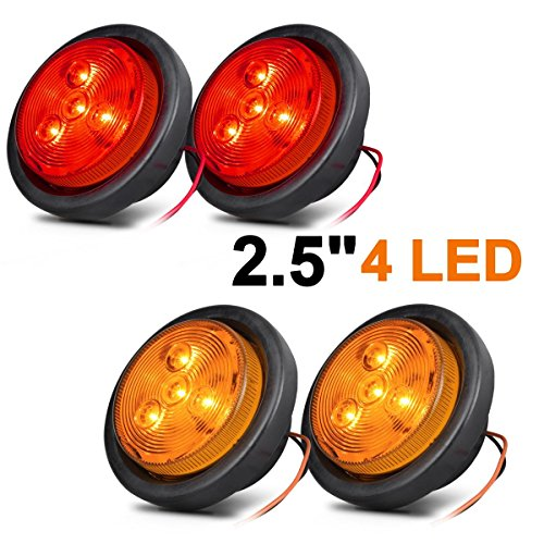 Partsam 2x Universal 16 Led Stop Tail Turn Signal Backup