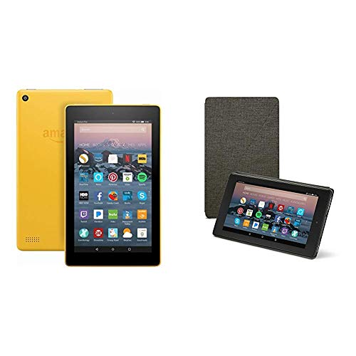 Fire 7 Tablet 8 GB, Canary Yellow, With Special Offers
